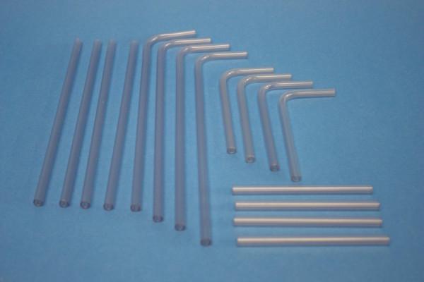 Satz Verbindungsröhrchen aus PVC, transparent