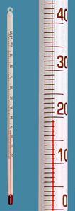 Schülerthermometer mit Öse, mit roter Anzeigenfüllung, -10 ... +110:1 °C, mit roter Anzeigenfüllung