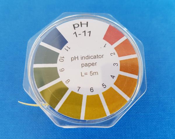 Universal-Indikatorpapier, Messbereich: pH 1-11