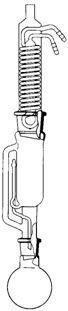 Extraktionsapparat nach Soxhlet, Extraktionsinhalt 100 ml, NS 29/32