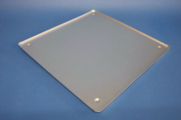 Sicherheitsunterlegplatte, Abmessungen: 400 x 400 mm, aus eloxiertem Aluminium