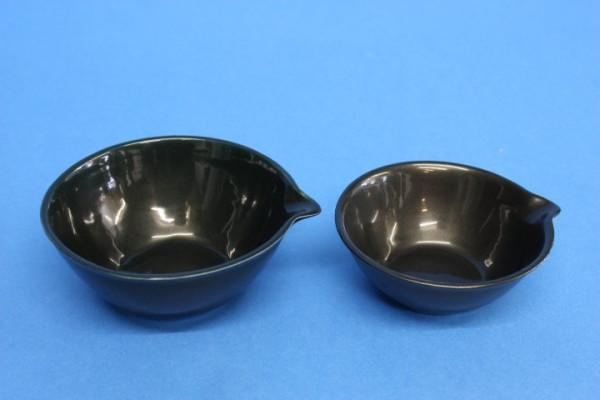 Abdampfschale aus Porzellan, schwarz, hohe Form, 100 ml, 84 x 38 mm