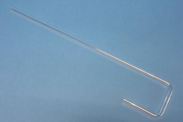Glasrohrformteil 8 mm, U-Form: 2 rechte Winkel, 400/60/60 mm