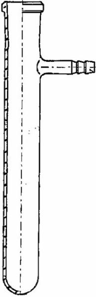 Reagenzglas, Supremax, mit seitlichem Ansatz, 200 x 32 mm