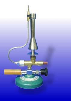 Sicherheitsgasbrenner nach Teclu, DIN-Ausführung, für Erdgas, mit Nadelventil