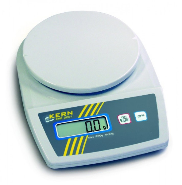Schulwaage EMB 200-2, Ablesbarkeit d: 0,01 g, Wägebereich Max: 200 g
