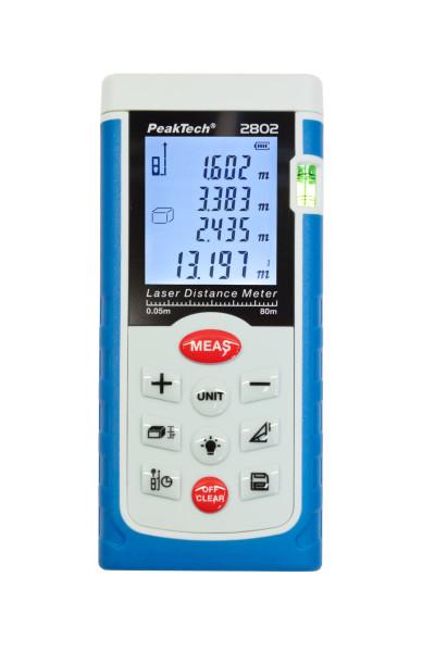 Laser-Entfernungsmessgerät ~ 0,05 ... 80 m «PeakTech® P 2802»