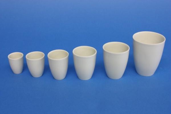 Porzellantiegel, hohe Form, 25 ml, 35 x 44 mm