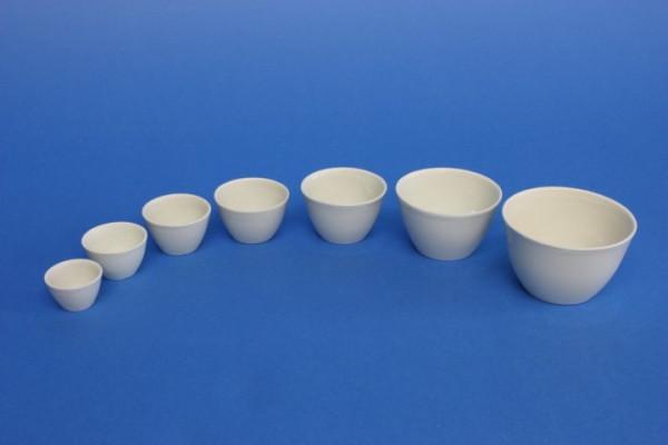 Porzellantiegel, niedrige Form, 25 ml, 45 x 28 mm