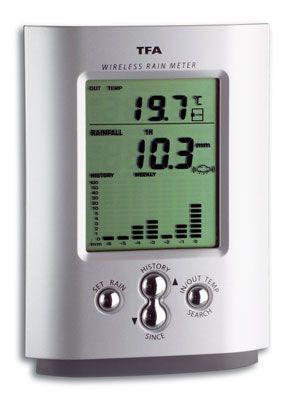 Digitaler Funk-Regenmesser mit Außentemperaturanzeige