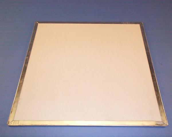 Hitzeschutzplatte / Bunsenbrennerunterlage, 450 x 450 mm, mit Zinkeinfassung