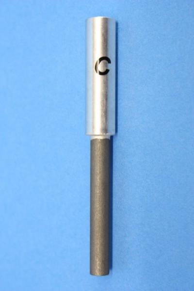 Kohle Stab-Elektroden, rund 83 mm (beschriftet)