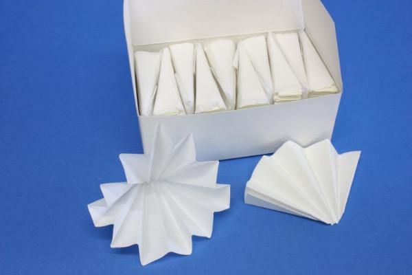 Faltenfilter, Durchmesser: 125 mm, 100 Blatt