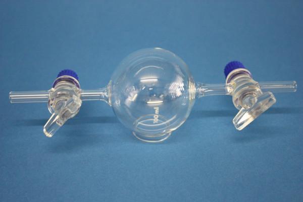 Gaswägekugel, mit 2 Hähnen, 100 ml