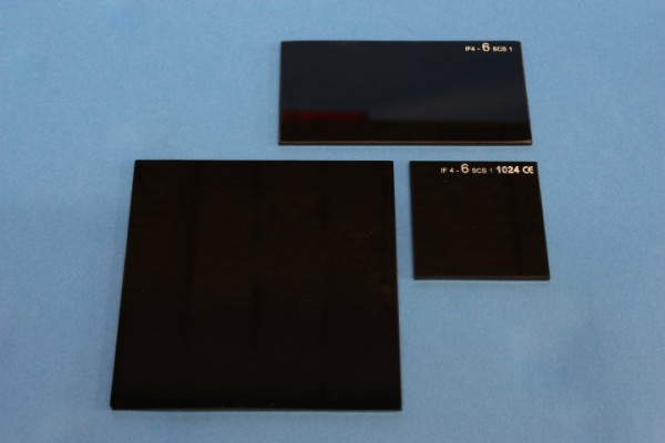 Kobaltglas, 50 x 50 mm, Kanten gesäumt, dunkelblau