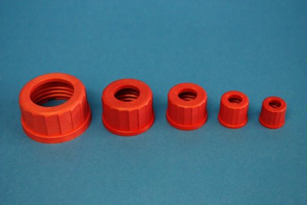Schraubverbindungskappe mit Bohrung, GL 45, 1 Stück