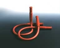 Sicherheits-Gasschlauch mit 2 Muffen, Länge: 500 mm