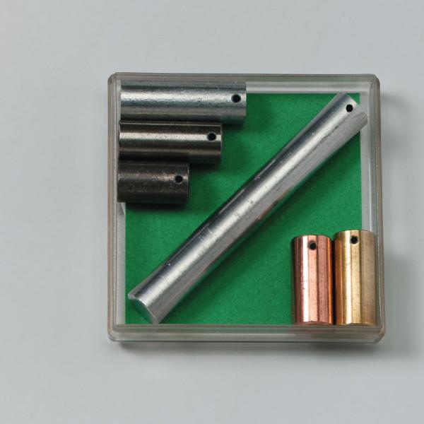 Metallzylinder mit gleichen Massen bestehend aus 6 Teilen