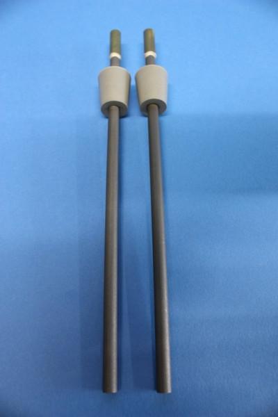Schmelzfluss-Kohle-Elektrodenpaar, 200 mm lang, mit Gummistopfen