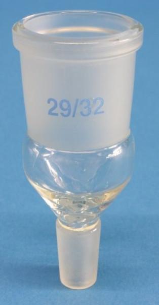 Übergangsstück, Hülse: NS 29/32, Kern: NS 14/23, nach 12257 DIN
