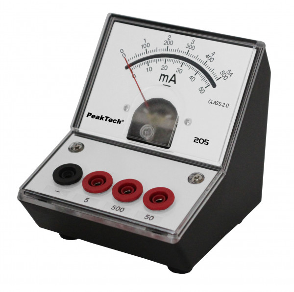 Messgerät für Lehrzwecke 0-50 mA/500mA/5 A DC