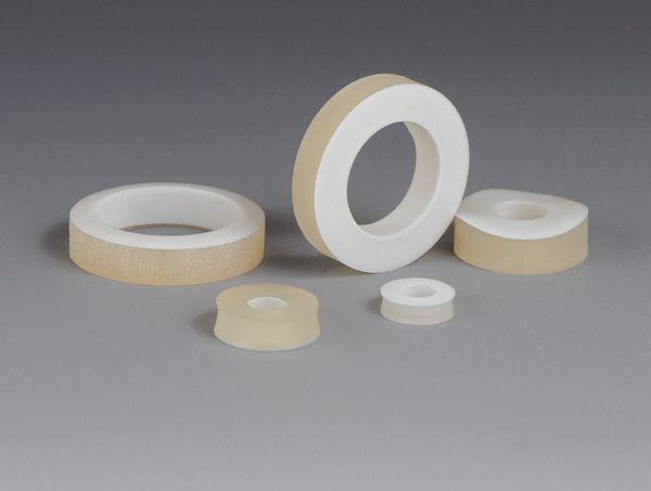 Silikondichtung mit PTFE-Stulpe, GL32, Bohrung 10 mm, 1 Stück