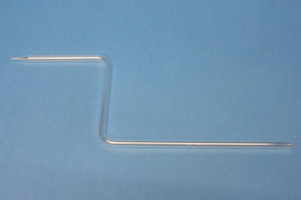 Glasrohrformteil 8 mm, S-Form: 2 rechte Winkel, mit Spitze, 180/90/90 mm