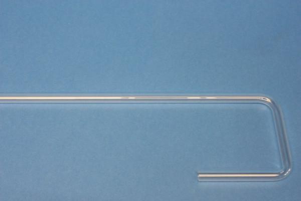 Glasrohrformteile 8 mm, U-Form: 2 rechte Winkel, 220/115/90 mm