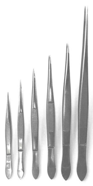 Pinzette gerade mit feiner Spitze, 105 mm lang