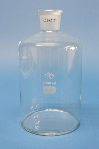 Gaswaschflaschen-Unterteil ohne Fuß, 1000 ml, NS 29/32
