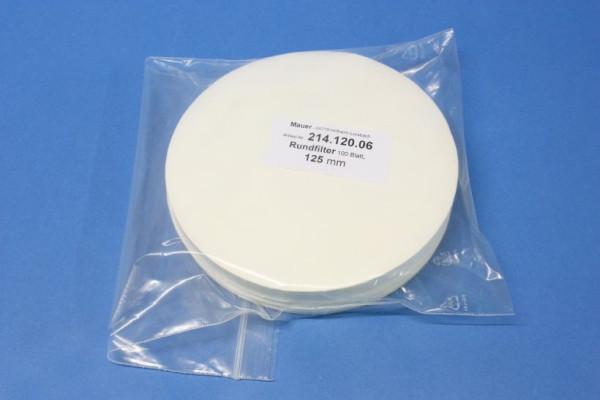 Rundfilter für qualitative Analysen, 125 mm, 100 B