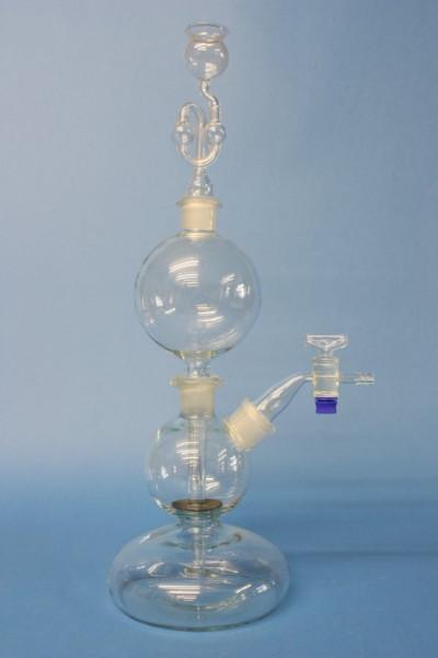 Chlorgasentwickler nach Kipp, komplett mit Zubehör, 500 ml