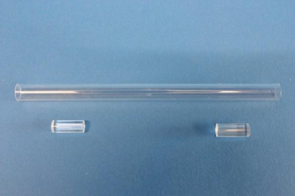 Reaktionsrohr, für die Luftanalyse, aus Quarz