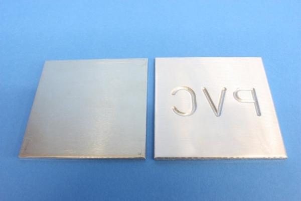 Aluminiumplatten mit Gravur
