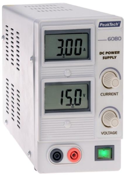 DC-Netzgerät 0 - 15 V DC / 0 - 3 A DC 6080 RISU Konform