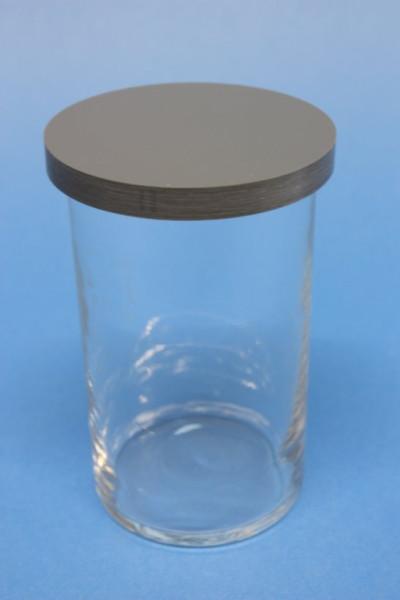 DC-Trennkammer, komplett, Glas, 110 x 70, mit PVC-Deckel