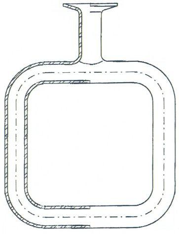 Glasrohr für Wärmeströmung, 100 x 100 mm, für Schüler