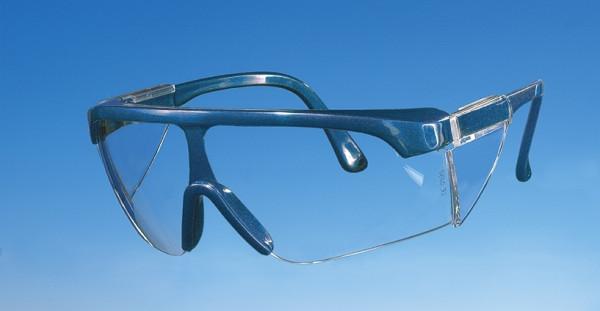 Panoramabrille (Schutzbrille), blau, mit Kunststoffgläser, DIN P