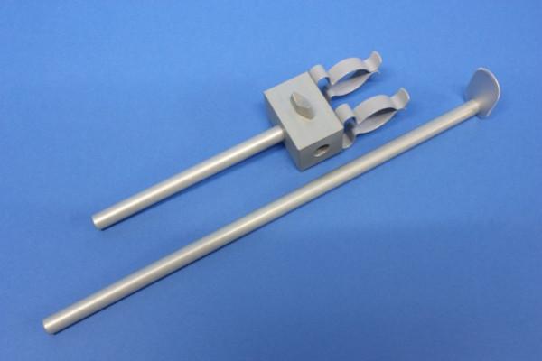 MBM-Kolbenproberhalter 50/100 aus eloxiertem Leichtmetall