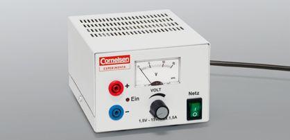 Stromversorgungsgerät, 1,5 bis 15 V/1,5 A DC