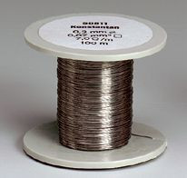 Konstantan-Drahtspule (Drähte, blank), 0,2 mm Durchmesser, 100 m lang