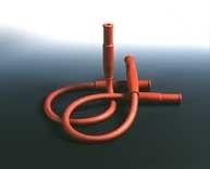 Sicherheits-Gasschlauch mit 2 Muffen, Länge: 1000 mm