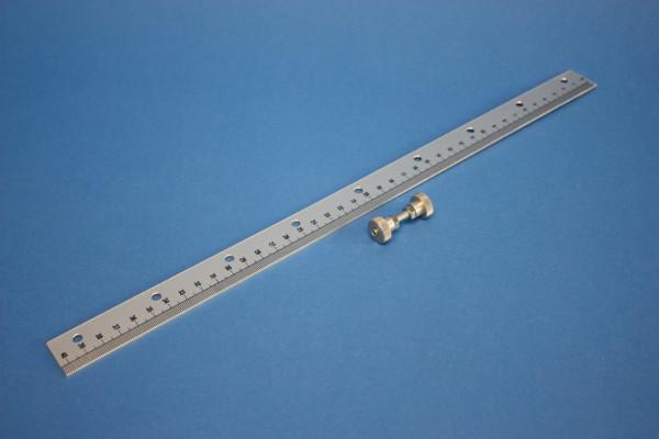 Skala mit Halter, 400 mm lang, Leichtmetall