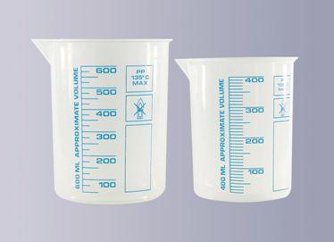 Laborbecher aus Polypropylen, 400 ml