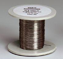 Konstantan-Drahtspule (Drähte, blank), 0,5 mm Durchmesser, 50 m lang