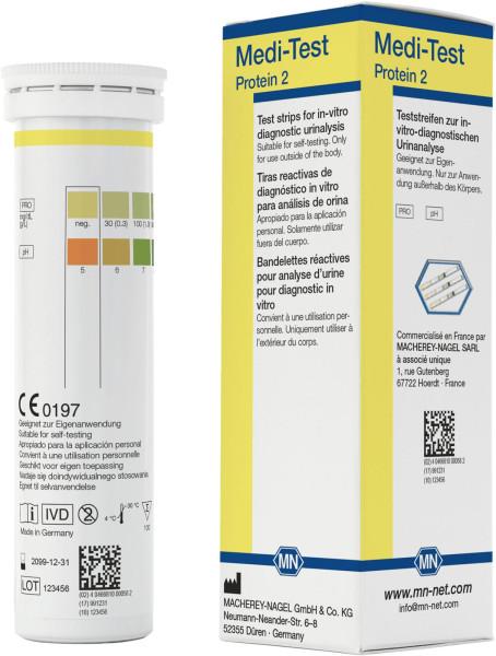 Albustix - Harnteststäbchen, Medi‑Test Protein 2
