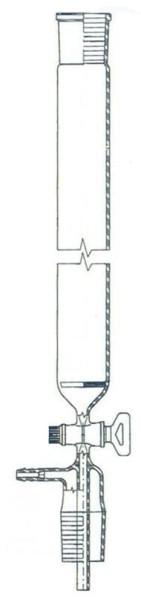 Chromatographie-Säule, 350 mm lang, mit Fritte und Absaugung, NS 29/32