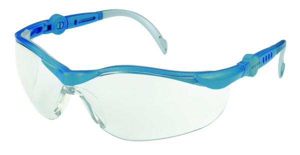 Panorama-Vollsichtbrille (Schutzbrille), blau/grau, mit Kunststoffgläsern, kratzfest + antifog