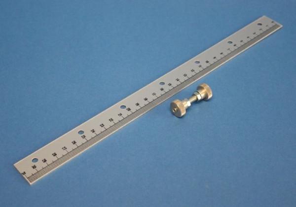 Skala mit Halter, 300 mm lang, Leichtmetall