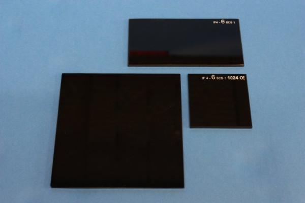 Kobaltglas,100 x 100 mm, Kanten gesäumt, dunkelblau